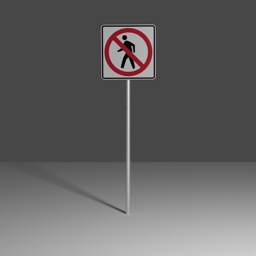 Thumbnail: No pedestrian crossing.