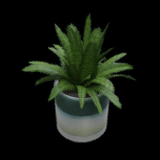 Thumbnail: Ceramic vase shades of green