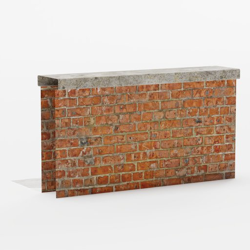 Brick wall roof end 2x1