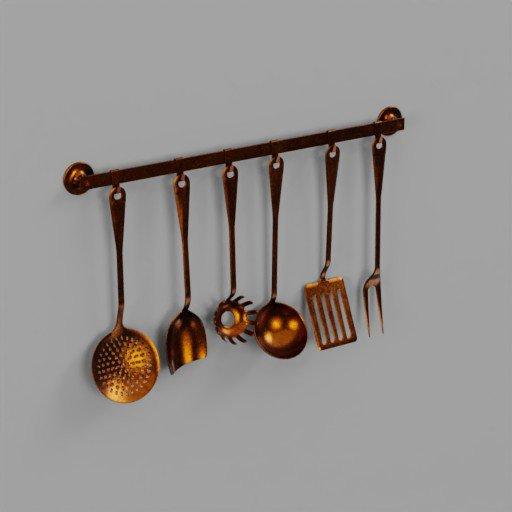 Set kitchen copper
