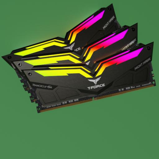 Thumbnail: RAM DDR4 TeamGroup TFORCE NIGHT HAWK