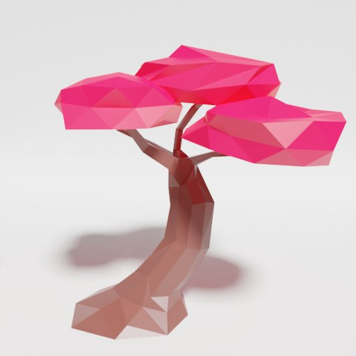 Thumbnail: Low Poly Japan Tree Singlecolor