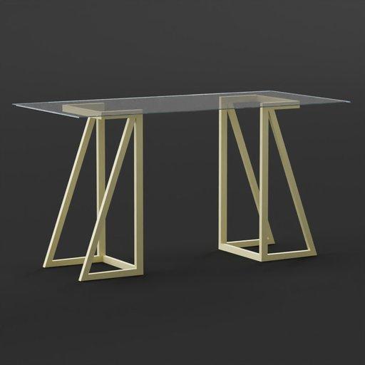 Glass Desk - Atkinson Desk