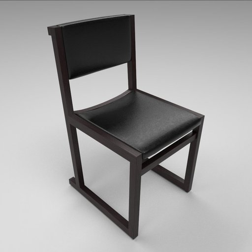 Thumbnail: Camerich Emily dining chair, imitation leather seating