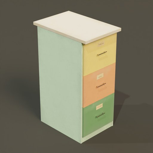 Thumbnail: File cabinet 3 drawers