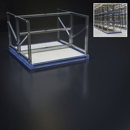 Industrial shelf storage module