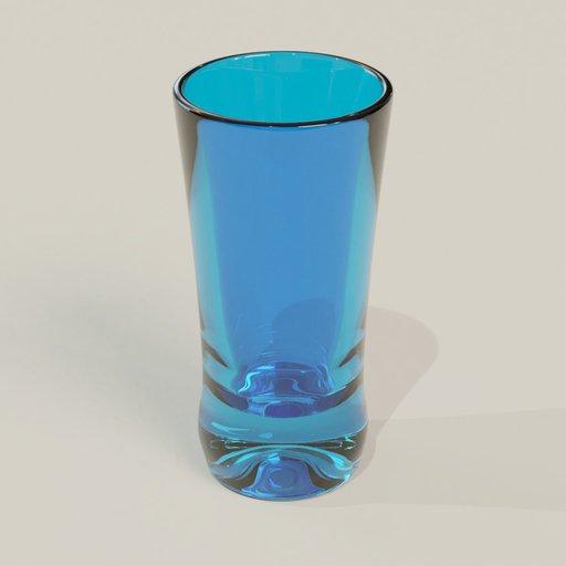 Thumbnail: Vodka glass blue