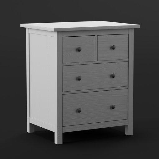 Thumbnail: IKEA Dresser Hemnes Light Grey