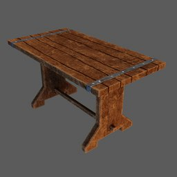 Thumbnail: Medieval wooden table