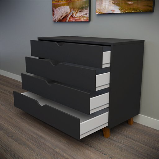 Thumbnail: Chest of drawers Black