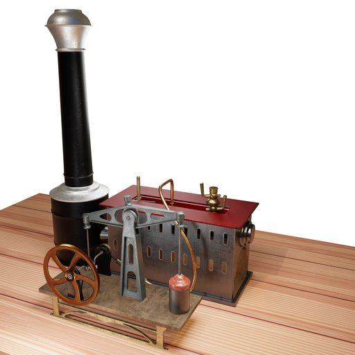 Thumbnail: Late 19th century toy steam engine