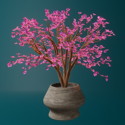 Thumbnail: Cherry blossom tree in wooden planter