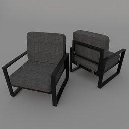 Thumbnail: Modern Steel Chair JP01
