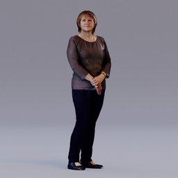 Thumbnail: 3D soul - standing woman - Mirja