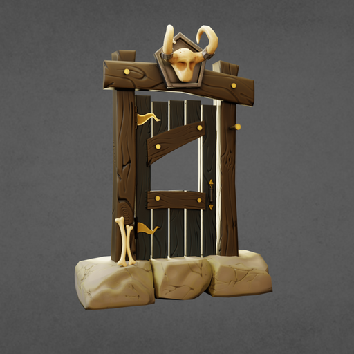 Thumbnail: Stylized door