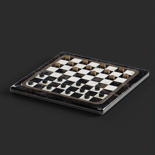 Thumbnail: Checkers marble