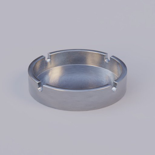Thumbnail: brushed steel ash tray