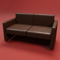 Thumbnail: Sofa office learher 2 seats