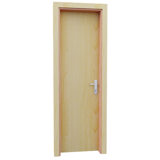 Thumbnail: Internal wooden door - Pine - 60 cm