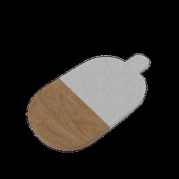 Thumbnail: Stone and Wood Cutting Board