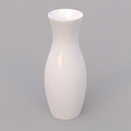 small white porcelain vase