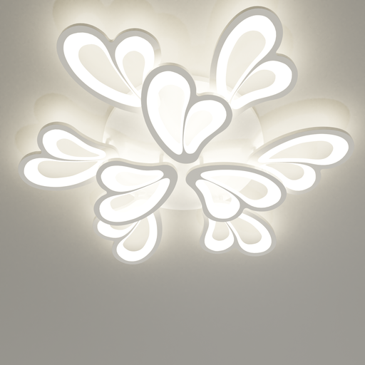 Thumbnail: Large 9 heads modern ceiling lamp (water lily).