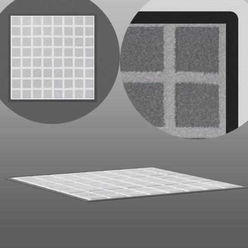 Thumbnail: Grey Square Floor Carpet
