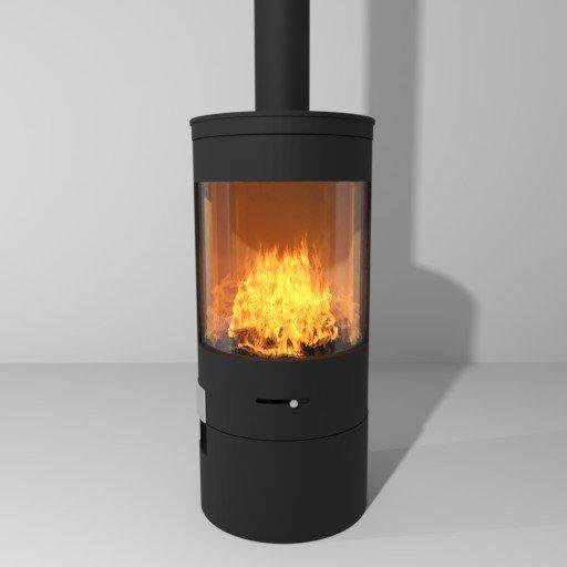 Thumbnail: Fireplace stove