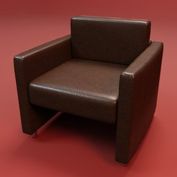 Thumbnail: Sofa office leather 1 seat