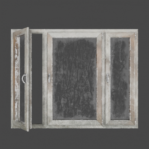 Painted wooden window