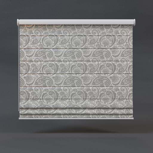 Roman blinds 01 full floral pattern