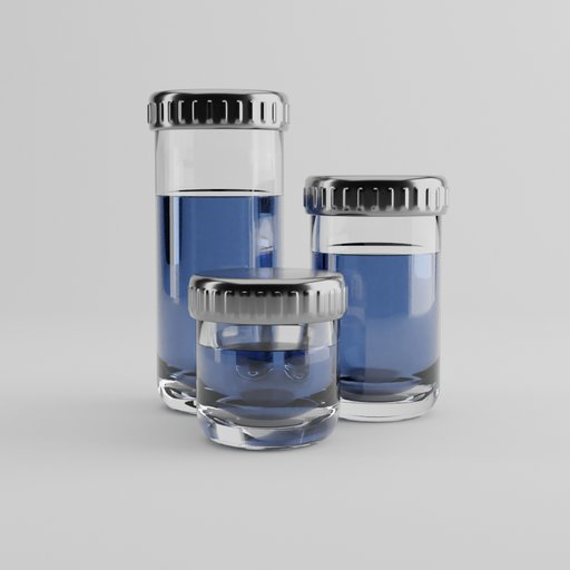 Thumbnail: Three glass cans with fluid