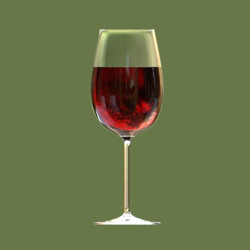 Thumbnail: bordeaux wine glass full