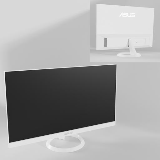 Thumbnail: White ASUS VZ249HE-W LED monitor