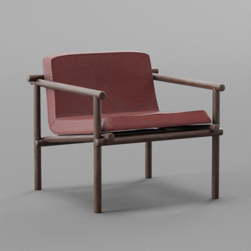 Thumbnail: Red Leather Small chair