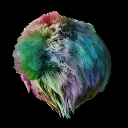 Platic mascot fur