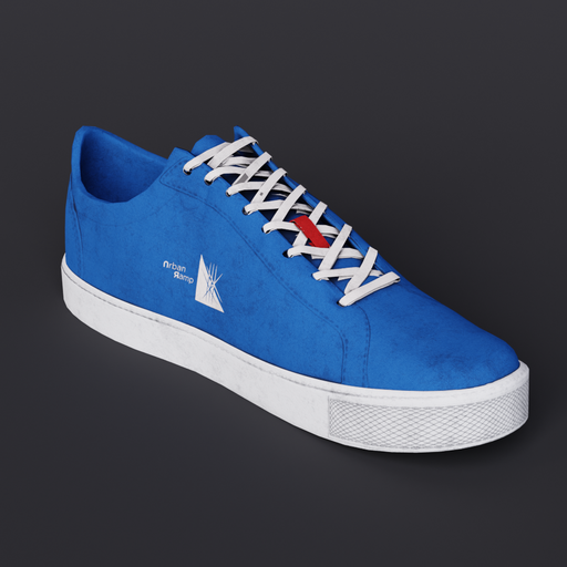 Blue Fabric Shoe