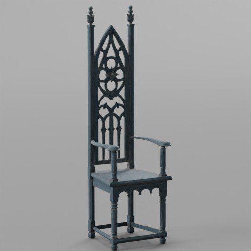 Thumbnail: Blue Vitage Wooden Chair