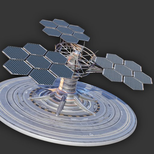 Sci-Fi Solar Power Installation