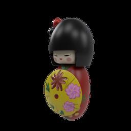 Thumbnail: SM_Kokeshi Japanese Doll 04