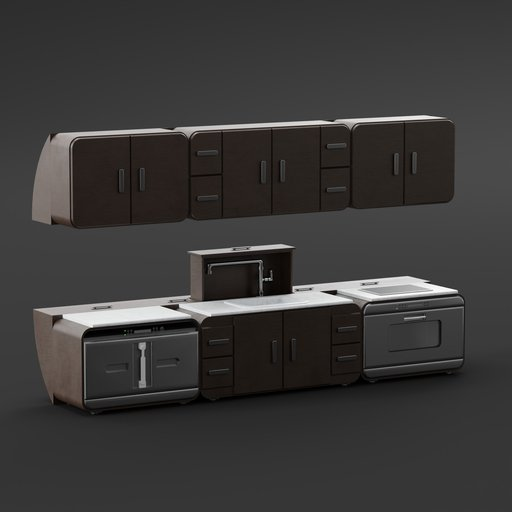 Thumbnail: Dark Wood Kitchen Furniture