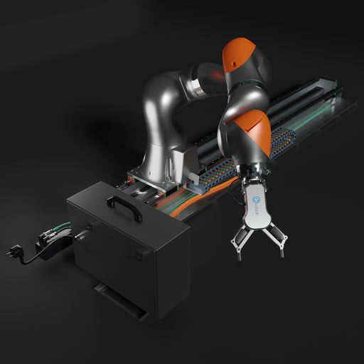 Thumbnail: Roboter KUKA Iiwa14  with linear axis and ON ROBOT  Gripper