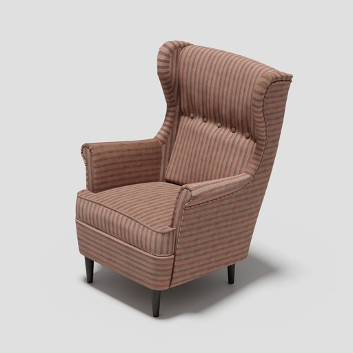 Thumbnail: The Strandmon Wing Chair (Fabric.Pattern)