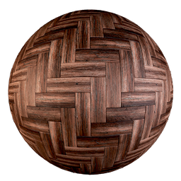 Thumbnail: Old parquet - Single Herringbone pattern