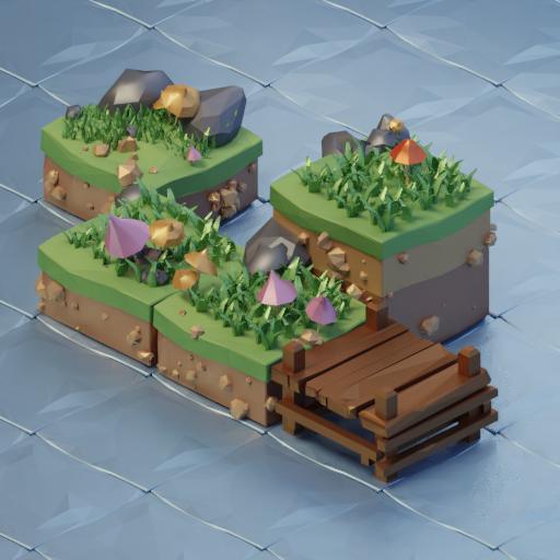 Thumbnail: Island low poly