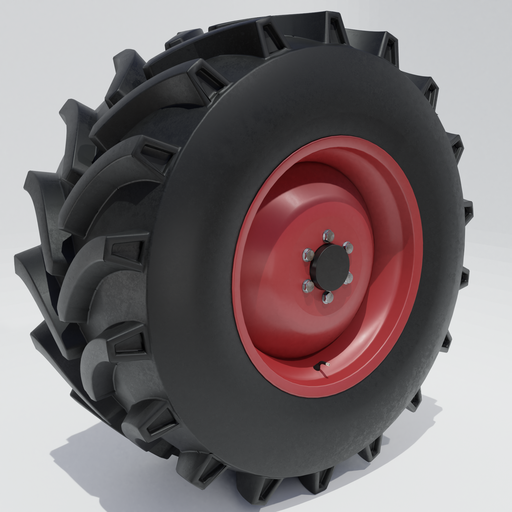 Thumbnail: Tractor tire with a rim