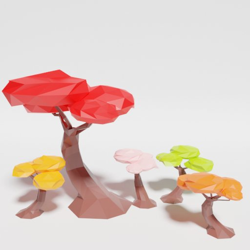 Thumbnail: Low Poly Japan Tree Multicolor