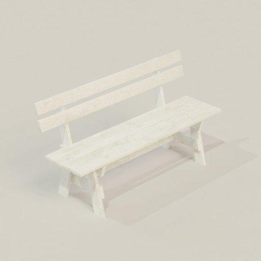 Thumbnail: White Garden Bench