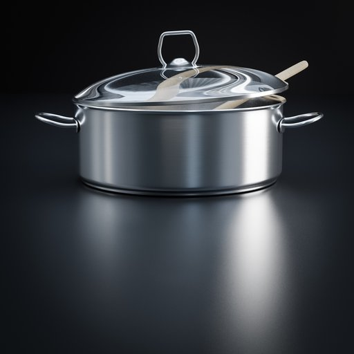 Thumbnail: Cooking pot with lid and wooden spoon