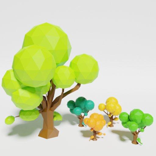Thumbnail: Low Poly Oak Tree Multicolor
